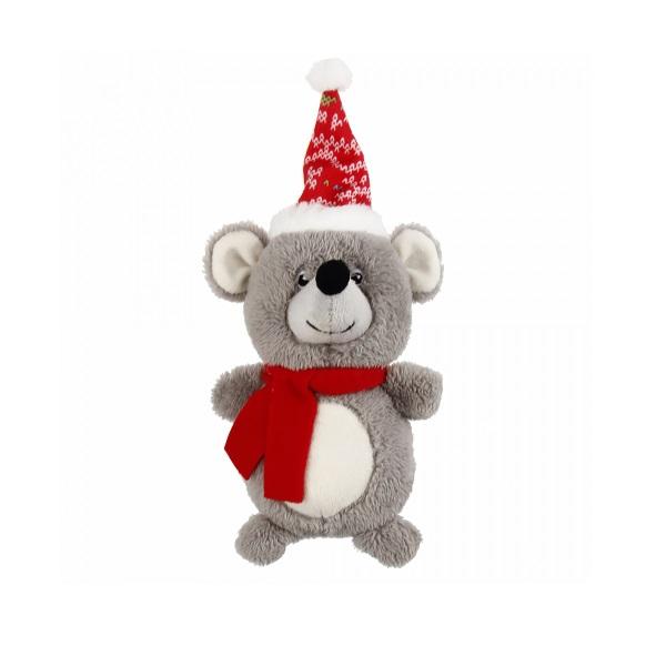 Мягкая игрушка для собак GiGwi мышка с пищалкой, серый, длина 12 см