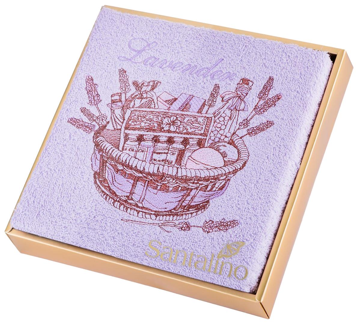 Банное полотенце, полотенце универсальное Santalino фиолетовый