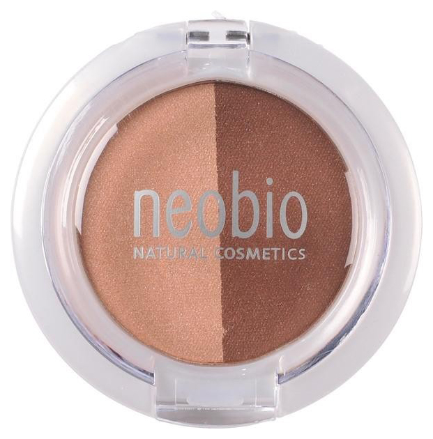 Тени для век NeoBio Eyeshadow Duo 02 Brown Champagne 2,5 г