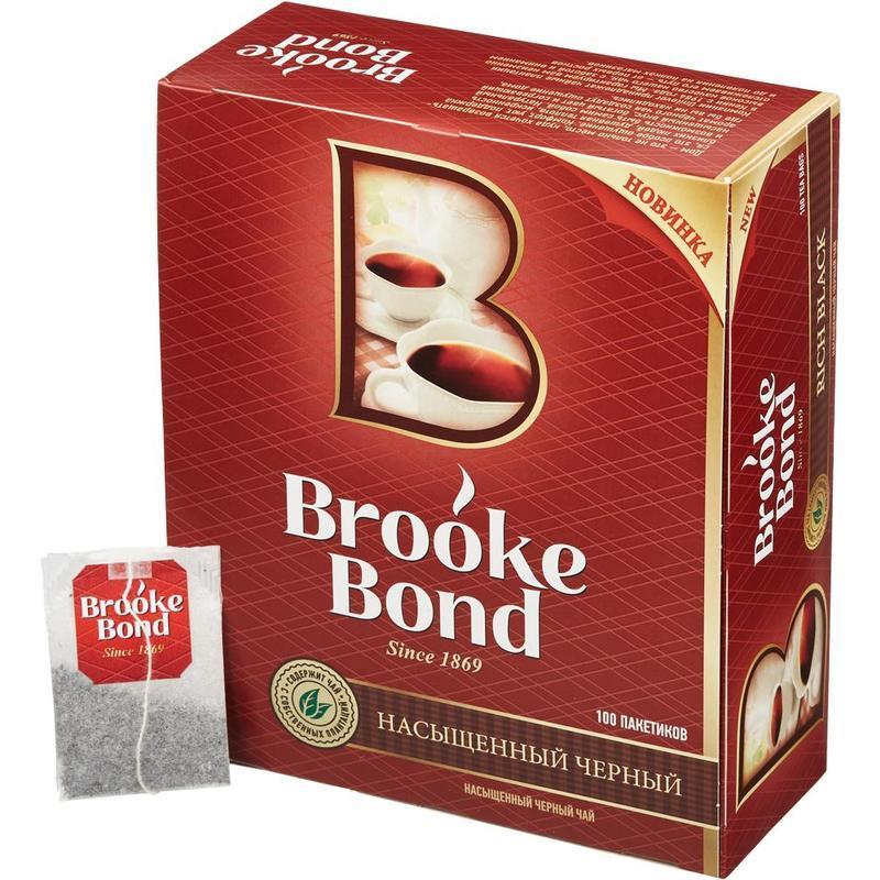 Чай черный Brook Bond 100 пакетиков фото