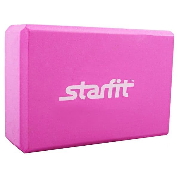Блок для йоги StarFit из EVA розовый