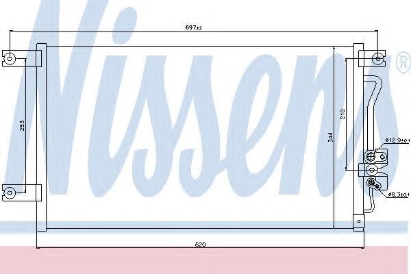 Радиатор кондиционера Nissens 94790