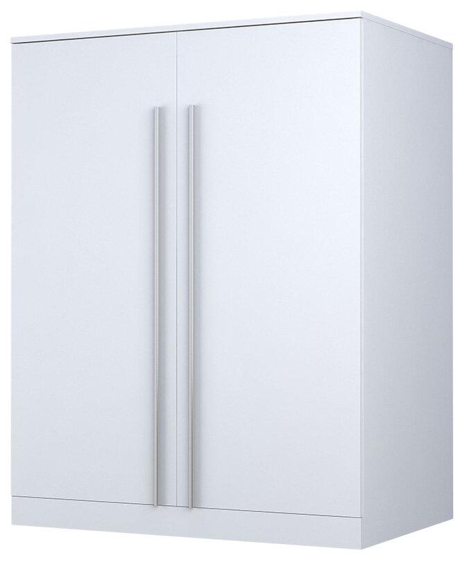 Купить Детский шкаф двухсекционный Polini Kids City 0001546.9 Белый, Шкафы в детскую комнату