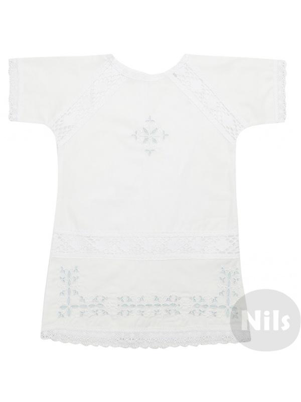 Купить Рубашка ДЛЯ КРЕЩЕНИЯ Голубой р.62, Для Крещения, Детские блузки, рубашки, туники