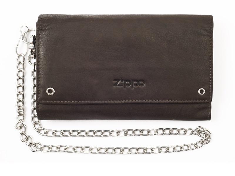 Бумажник Zippo, коричневый, 17x3,5x11 см