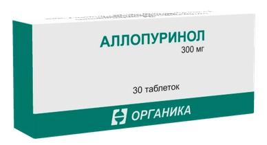 Аллопуринол таблетки 300 мг 30 шт.