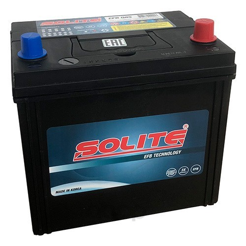 Аккумулятор автомобильный Solite EFBQ85 START-STOP 70A/ч 730А полярность обртная фото