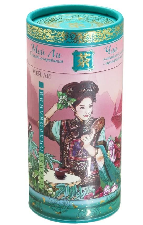 Чай Зеленая Панда секрет очарования зеленый байховый китайский с цветами жасмина 100 г
