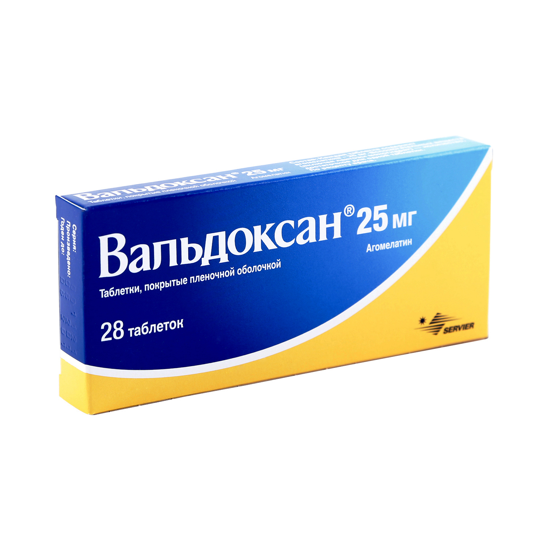 Вальдоксан таблетки 25 мг 28 шт.