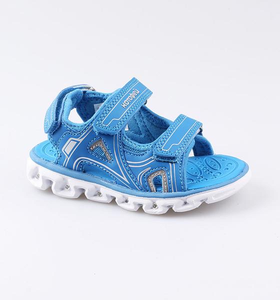 Купить Пляжная обувь Котофей для мальчика р.27 324025-12 синий, Шлепанцы и сланцы детские