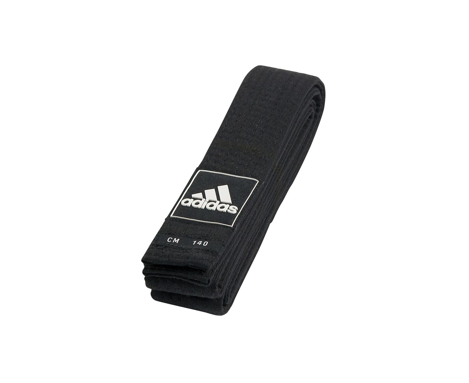 Пояс для тхэквондо Adidas Competition Black Belt черный, 210 см фото