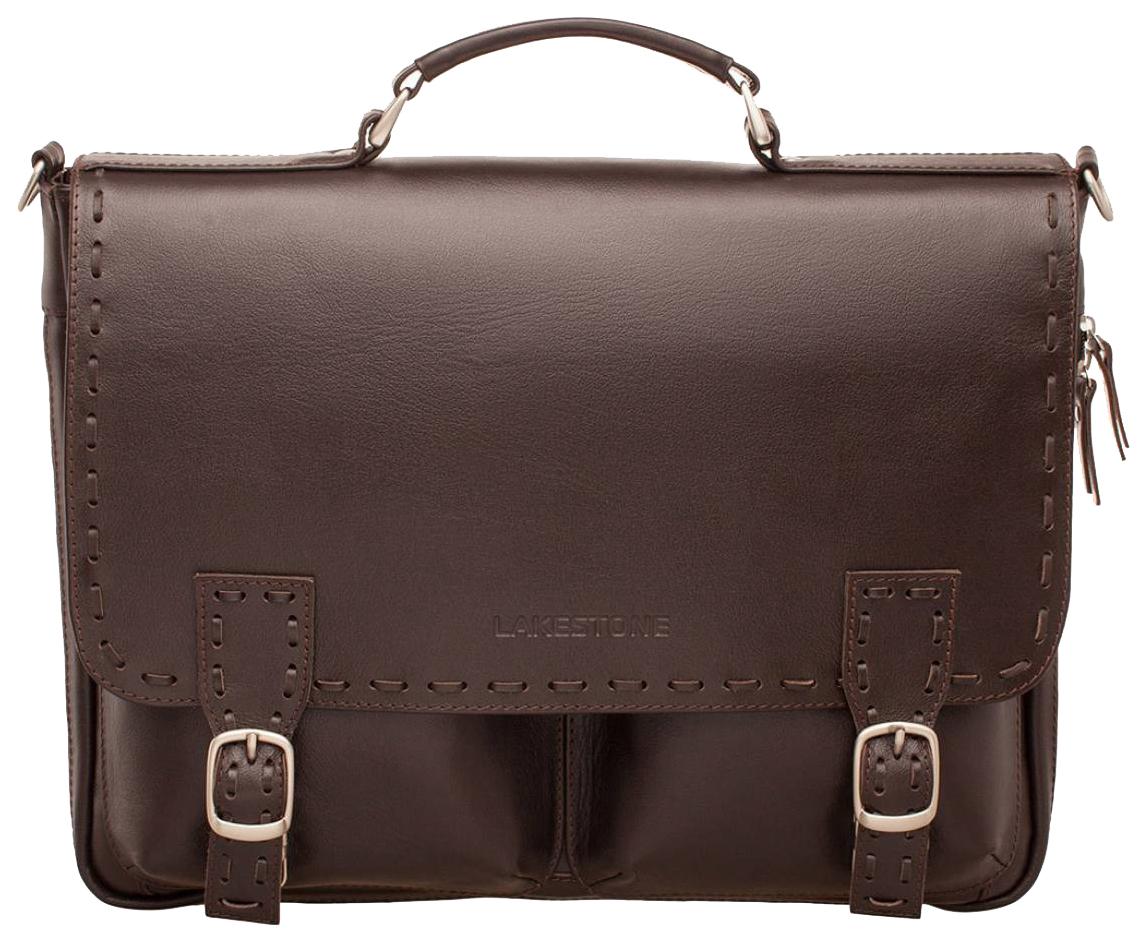 Портфель кожаный Lakestone 943058/BR коричневый фото