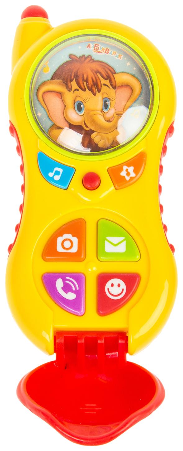 Развивающая игрушка Азбукварик Телефончик Мамонтенка Алло алло