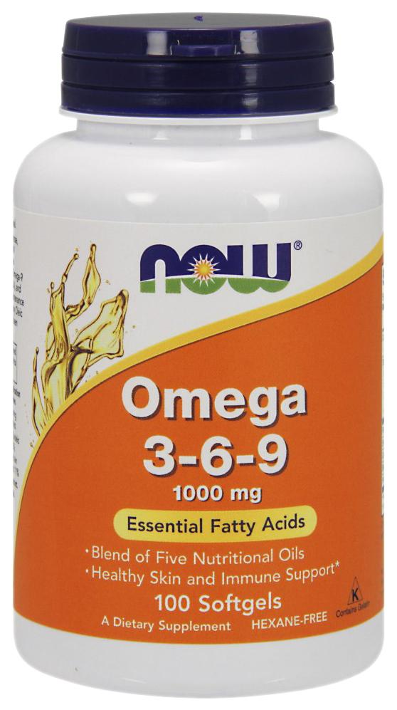 Купить Omega 3-6-9 NOW 100 капс.