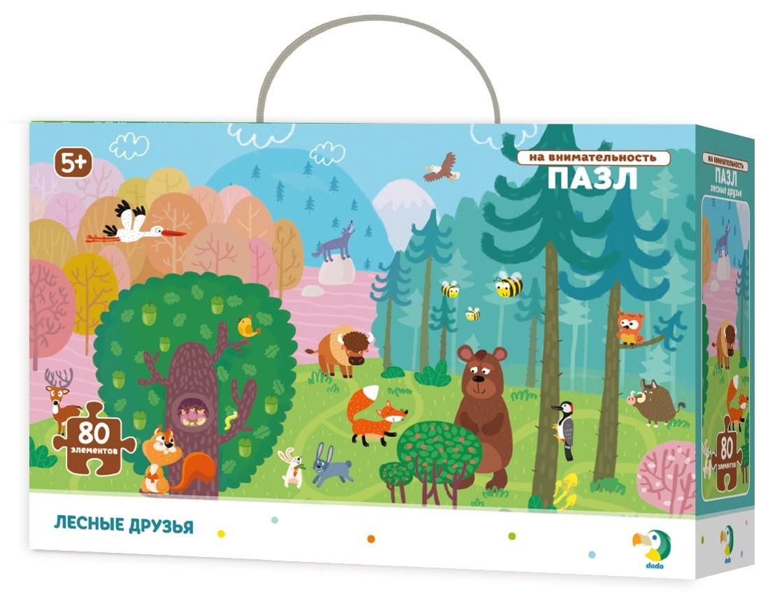 Купить DODO Пазл на внимательность DoDo Лесные друзья R300140, Пазлы