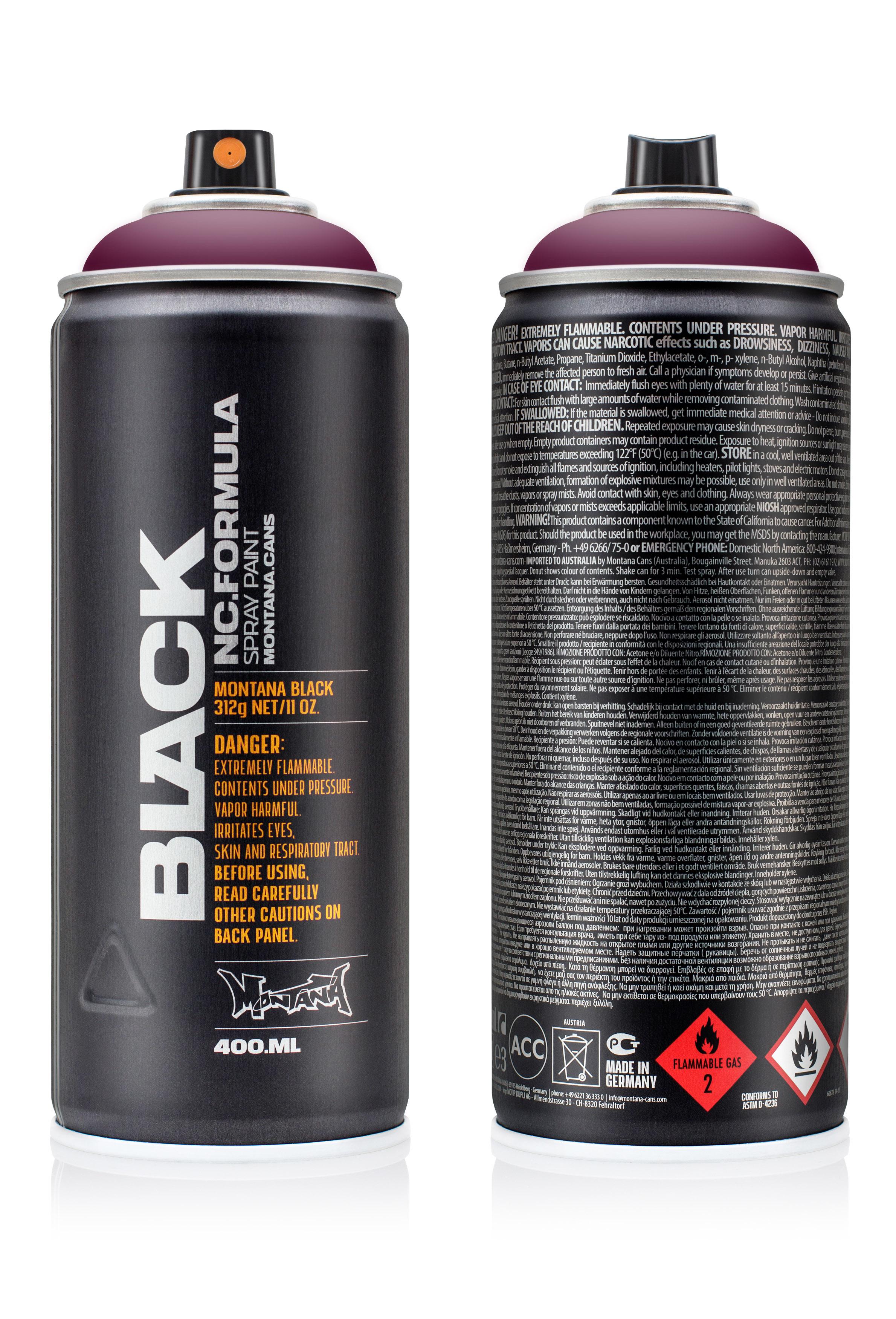 Аэрозольная краска Montana Black Winegum 400 мл
