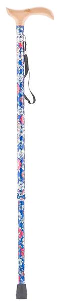 Купить Трость Армед YU821 с УПС синий с цветами светлое дерево, Armed