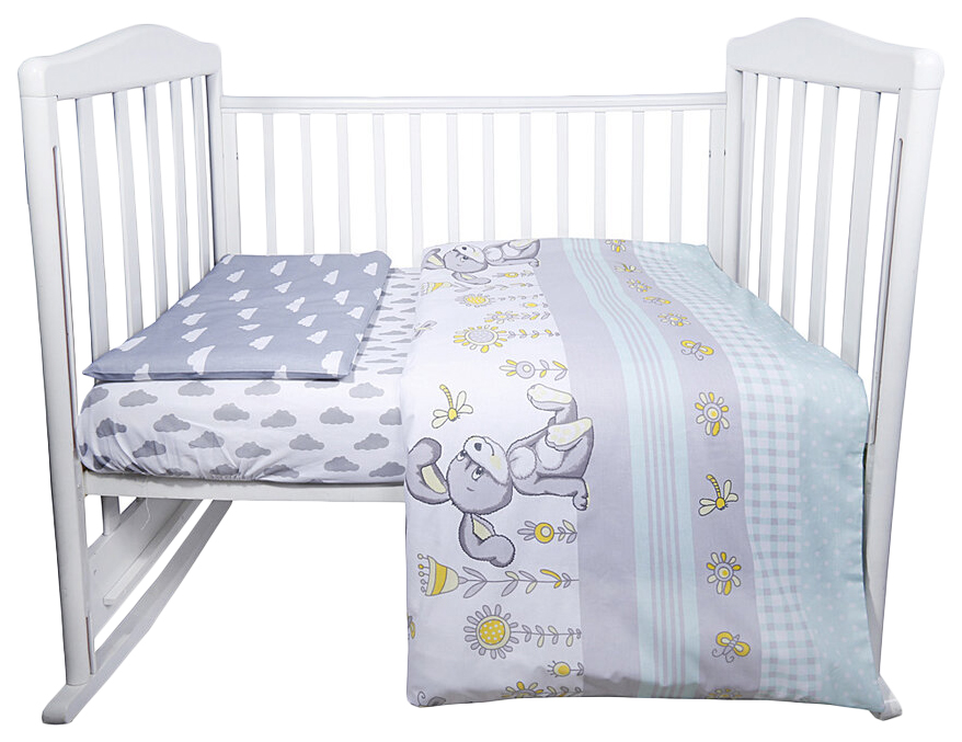 ЭДЕЛЬВЕЙС Комплект в кроватку Лето (3 предмета, цвет: бирюзовый) УТ0010281