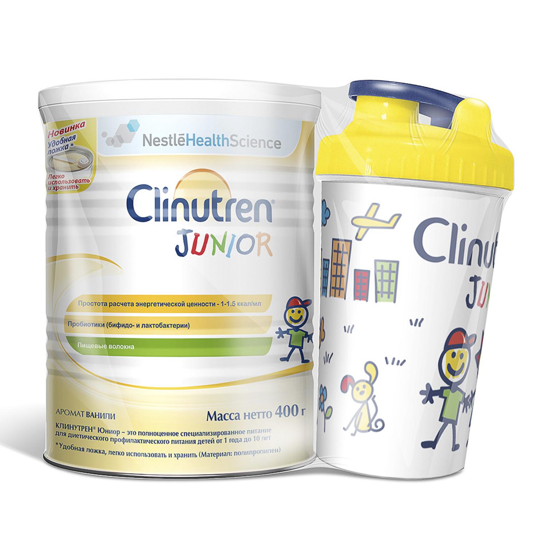 Купить Сухая смесь Nestle Clinutren® Junior + Шейкер с ароматом ванили, 400 г, Детские смеси 3 (от года)
