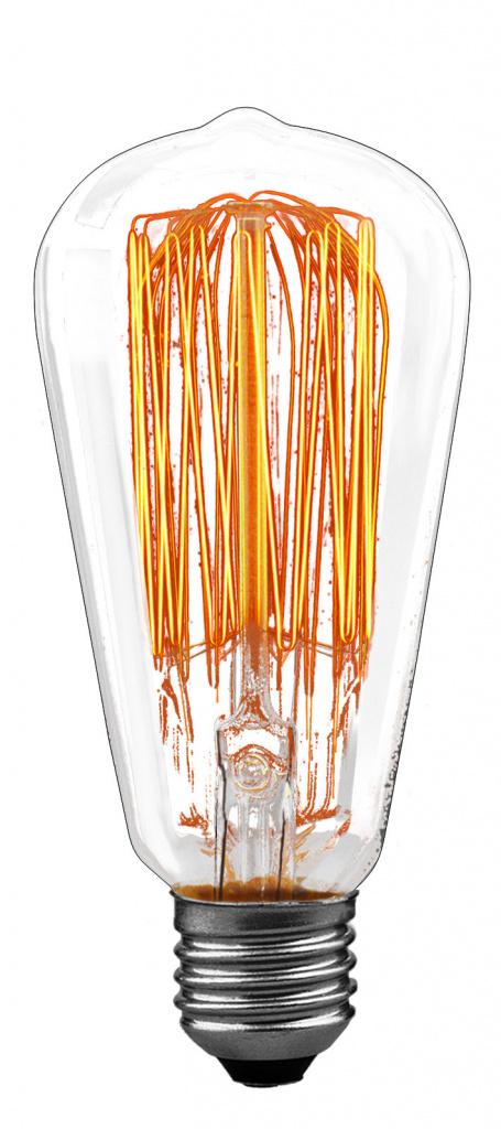 Лампа Рустика, прозрачная, E27, 65мм 60W 55060