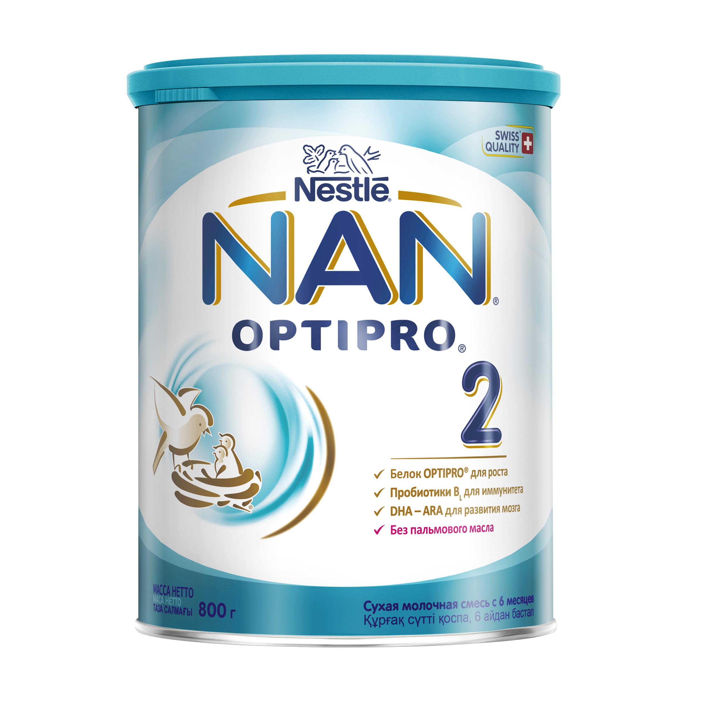 Купить Молочная смесь NAN 2 для детей 6-12 мес. 800 г, Детские смеси