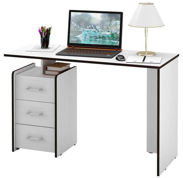 Стол компьютерный прямой МФ Мастер Слим-2 50x120x75, белый