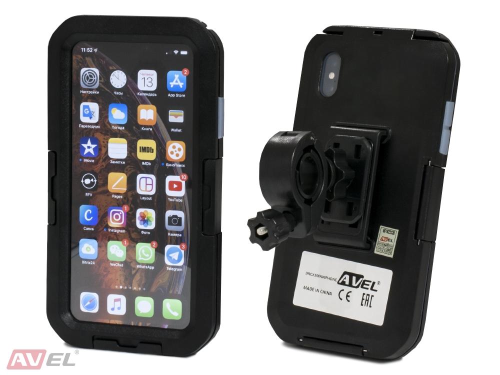 Чехол держатель AVEL для iPhone XS Max на велосипед DRCXSMaxIPHONE Black