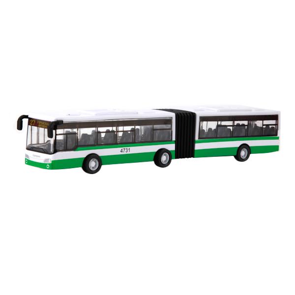 Купить Автобус (с гармошкой) Технопарк инерционный, металлический 18 см, Городской транспорт