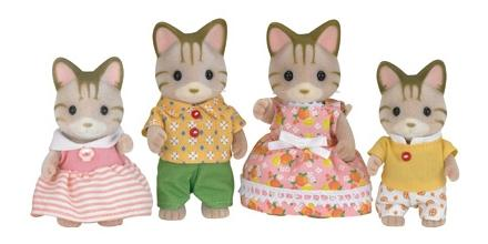 Игровой набор sylvanian families семья полосатых кошек
