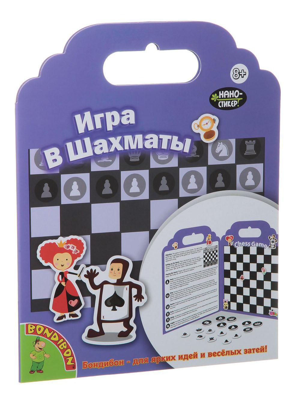 Набор наклеек нано-стикер игра в шахматы, Bondibon 19x24 см фото