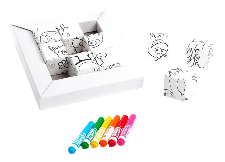 Купить Волшебные кубики-раскраски, Набор для рисования BONDIBON Волшебные Кубики-раскраски арт, 0924, Наборы для рисования