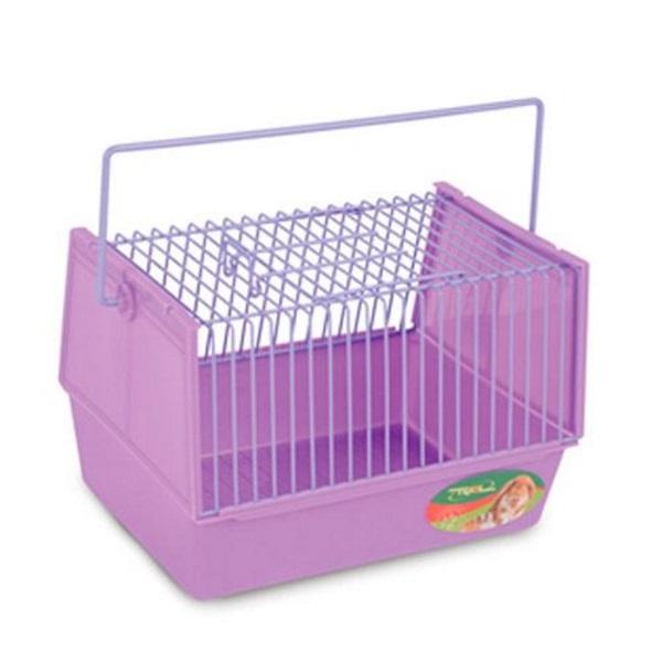 Переноска для грызунов Triol фиолетовый пластик, металл