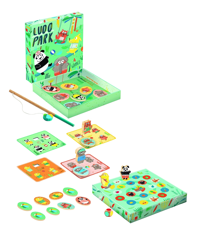 Купить Развивающая игра Djeco Людопарк 4 в 1, Семейные настольные игры