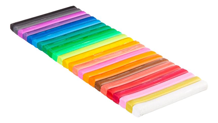 Купить ВВ1816, Набор для лепки из пластилина Bondibon Пластилин 24 цвета,