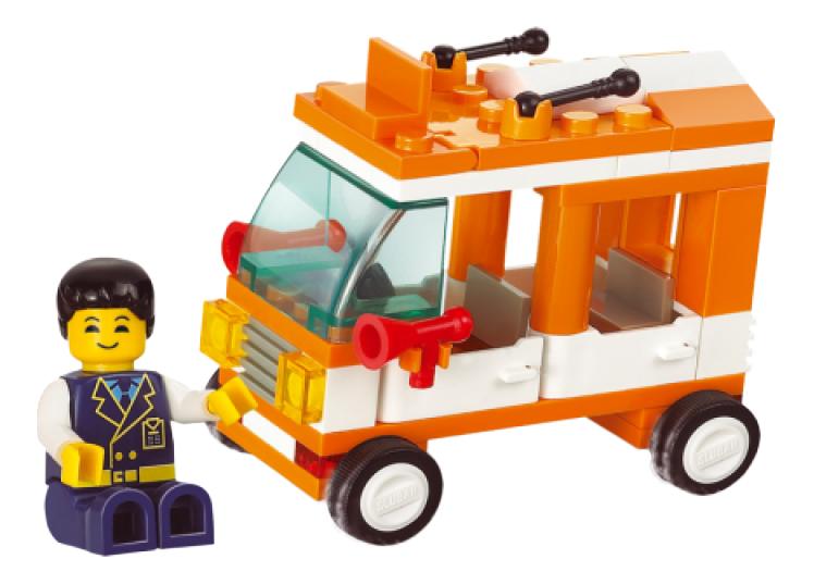 Конструктор пластиковый Sluban Маленький автобус фото