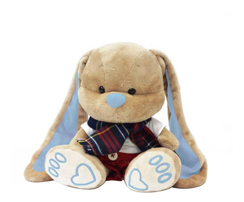 Мягкая игрушка Maxitoys Зайчик Жак в Красных Штанишках с Шарфом 25 см фото