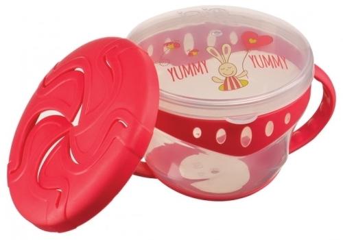 Купить Кружка с двумя крышками Happy Baby 15021 Red, Поильники