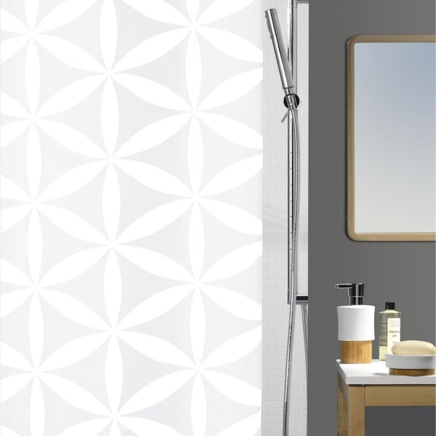 Текстильная штора для ванной Spirella Rania 180x200