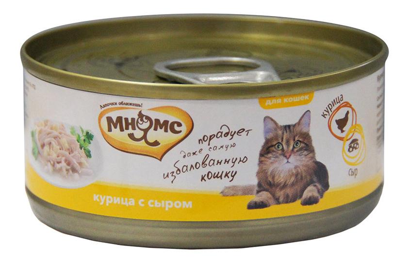 Консервы для кошек Мнямс, курица, сыр, 70г