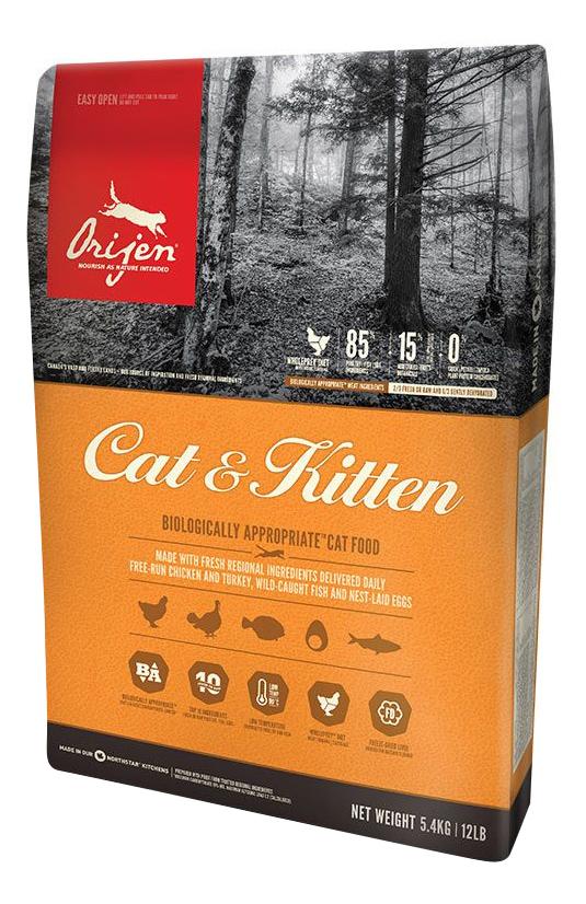 Сухой корм для кошек и котят Orijen Cat  Kitten цыпленок 18кг.