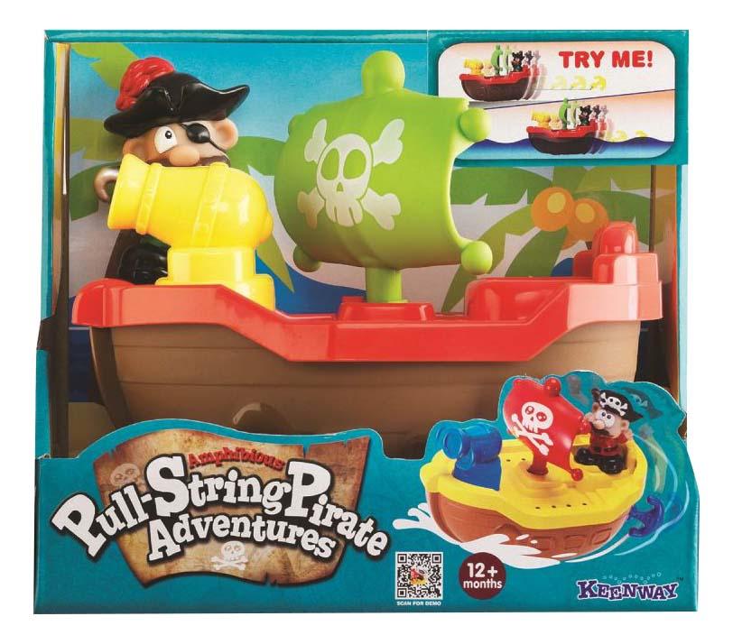 Интерактивная игрушка для купания Keenway Пират красный