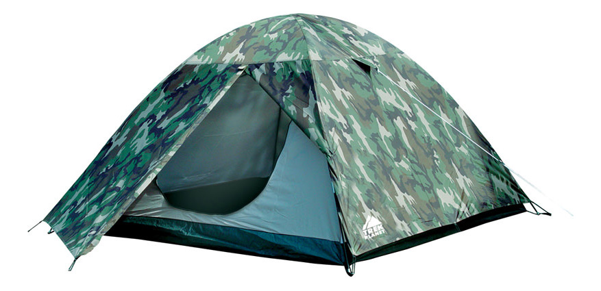 Палатка Trek Planet Alaska двухместная зеленая/коричневая