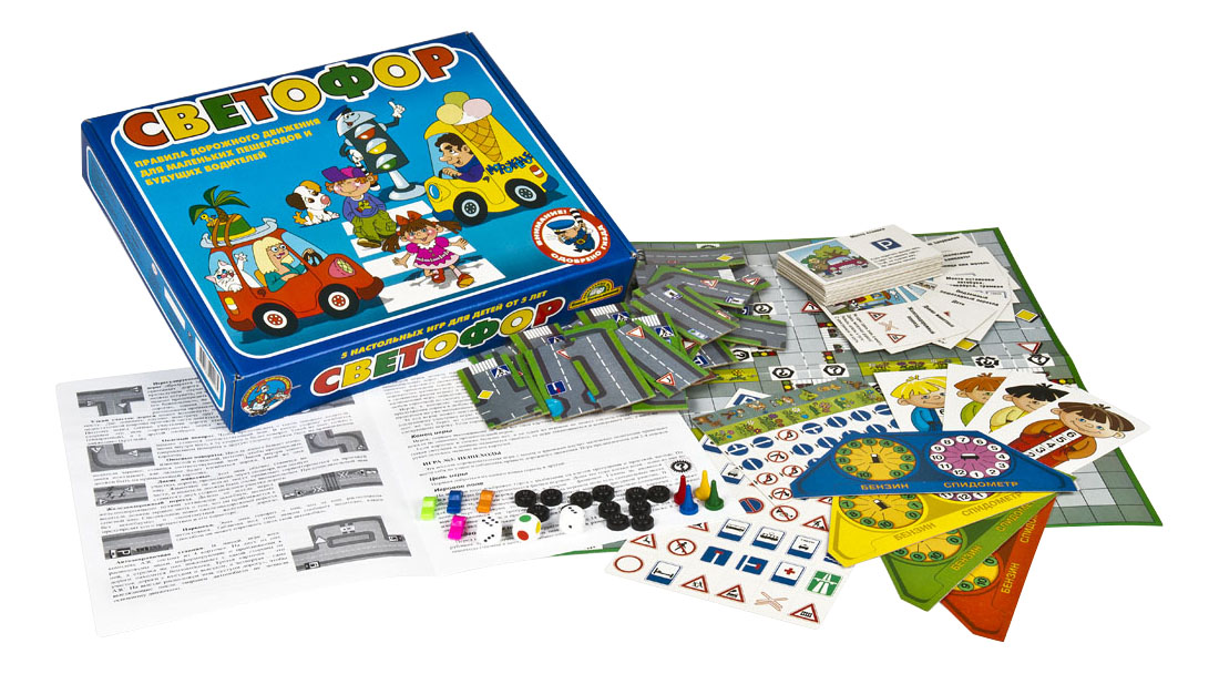 Купить Настольная игра Светофор 5 в 1 Тридевятое царство, Семейные настольные игры