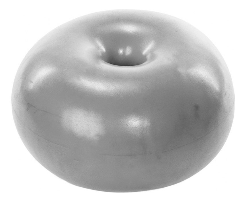 Мяч гимнастический Bradex Фитбол-Пончик, серый, 50 см фото