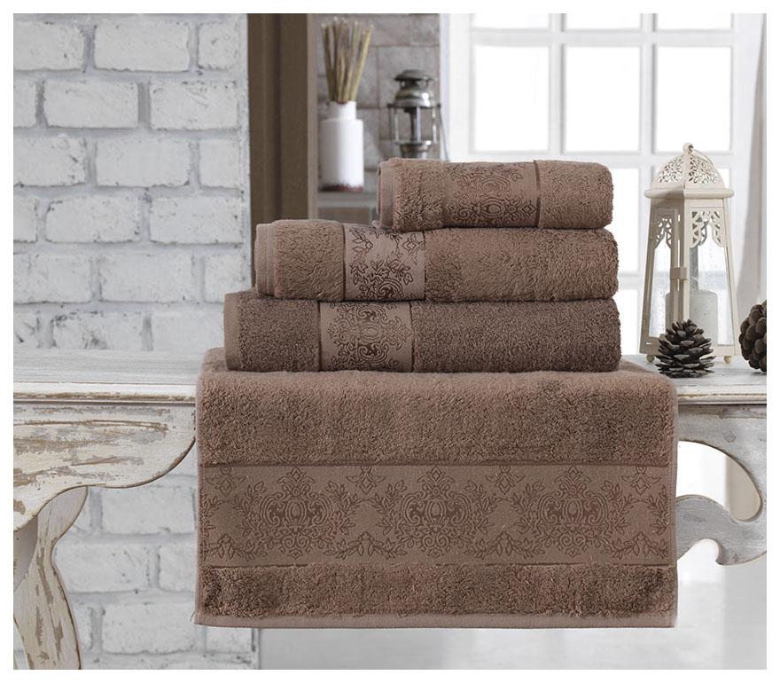 Банное полотенце, полотенце универсальное KARNA коричневый