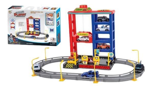 Игровой набор Многоуровневая гараж Парковка с лифтом Gratwest Г78481