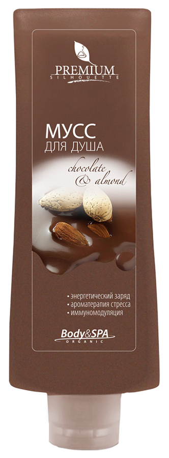 Мусс для душа Premium Chocolate  Almond Silhouette, 200 мл
