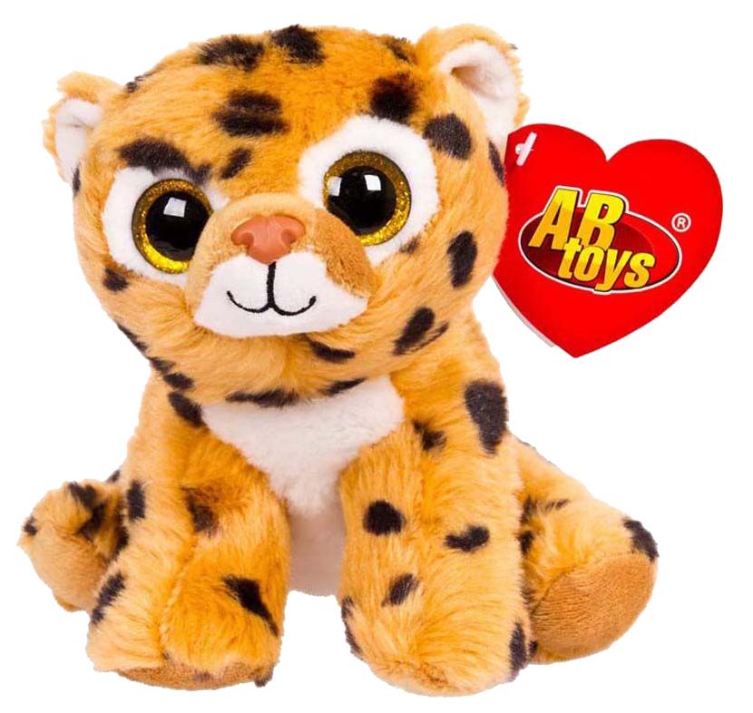 Купить Мягкая игрушка ABtoys Леопард коричневый, 15 см, Мягкие игрушки антистресс