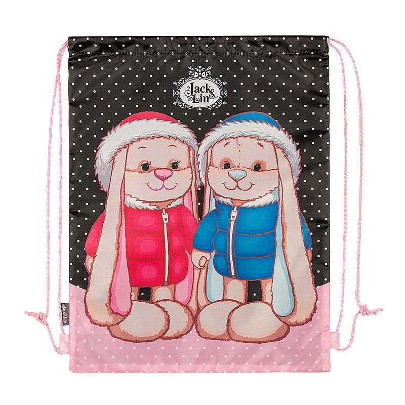 Купить Мягкая игрушка Maxitoys Мешок для Обуви Jack&lin Заяц Жак и Зайка Лин в Зимней Одежде, Мешки для обуви