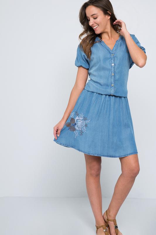 Платье женское U.S. Polo Assn. G082SZ0DEALFAVERONA DN0021 голубое 42 USA